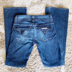 Hudson Button Flap Pocket BootCut Jeans Los Rise